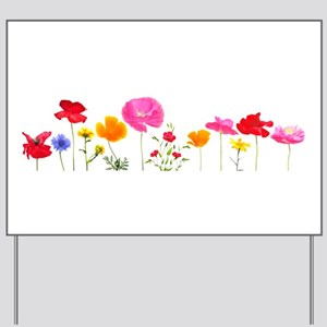 wild meadow flowers Yard Sign