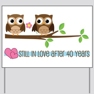 Owl 40th Anniversary Yard Sign