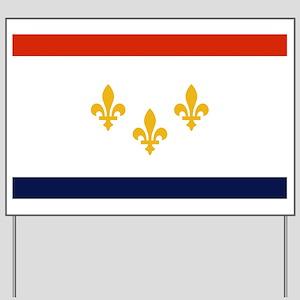 New Orleans Flag Yard Sign