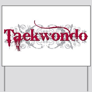 Taekwondo Red Yard Sign