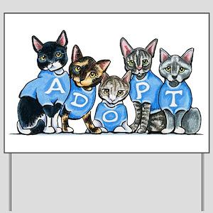 Adopt Shelter Cats Yard Sign