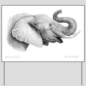 Lucky Elephant ~ Yard Sign