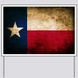 Vintage Flag of Texas Yard Sign