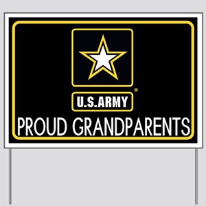 U.S. Army: Proud Grandparents (Star) Yard Sign