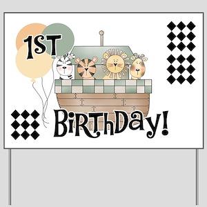 Noah's Ark 1st Birthday Yard Sign