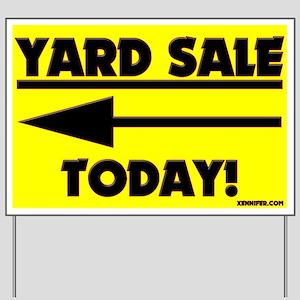 YARD SALE TODAY! (Left Arrow) Yard Sign