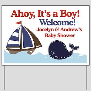 Ships Ahoy Its a boy Sign Yard Sign