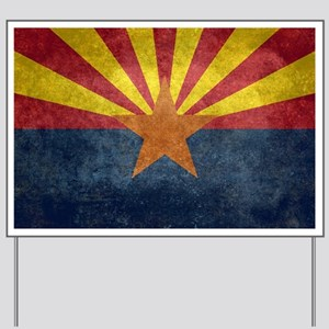 Arizona the 48th State - vintage retro v Yard Sign