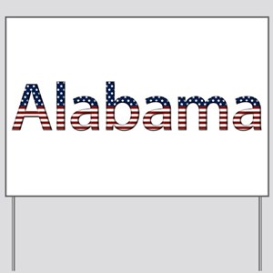 Alabama Stars and Stripes Yard Sign