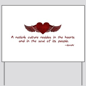 Gandhi- Heart and Soul Yard Sign
