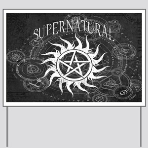 Supernatural Black Yard Sign