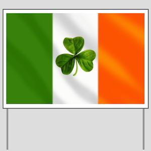 Irish Shamrock Flag Yard Sign