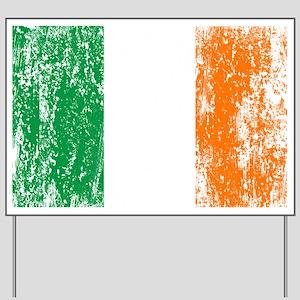 Irish Flag Pattys Drinking Yard Sign
