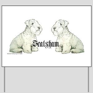 Sealyham Terrier Dog Portrait Yard Sign