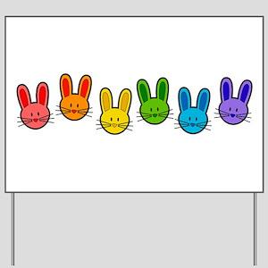 Bunnies Yard Sign