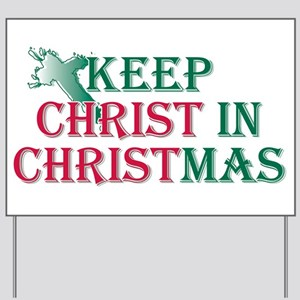 Keep Christ cross Yard Sign