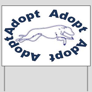 Adopt V2.0 Blue Yard Sign