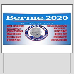Bernie Sanders Not For Sale Yard Sign