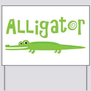 Cute Alligator Yard Sign