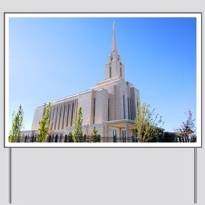 LDS Oquirrh Mountain Temple Yard Sign