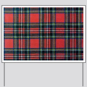 Royal Stewart Tartan2 Yard Sign