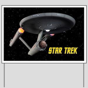 USS Enterprise High Resolution Yard Sign