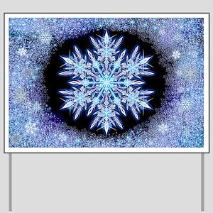 October Snowflake - wide Yard Sign