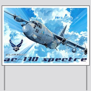 Air Force AC-130 Spectre Yard Sign