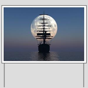 Ship Sailing In The Night Yard Sign