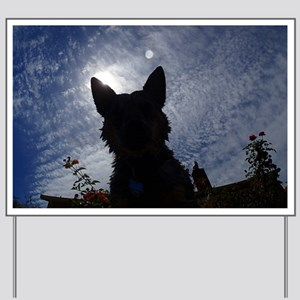 Stealthy Cattle Dog Yard Sign