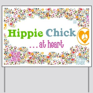 lg-hippie-chick Yard Sign