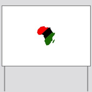 Africa - Red, Black and Green Yard Sign