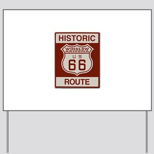 Winslow Historic Route 66 Yard Sign