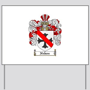 Nelson Family Crest Yard Sign