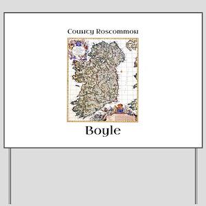 Boyle Co Roscommon Ireland Yard Sign