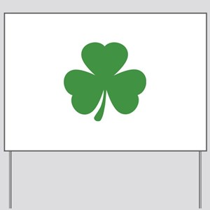 green shamrock irish Yard Sign