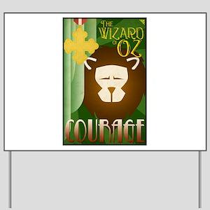 Wizard of Oz Cowardly Lion Deco Poster Design Yard