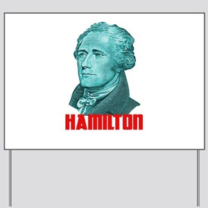 Alexander Hamilton in Green Yard Sign