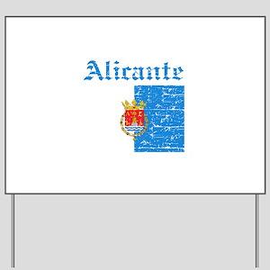 Alicante flag designs Yard Sign