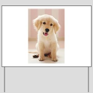 Golden Retriever Pup Yard Sign