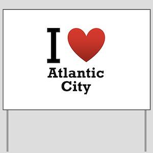 I Love Atlantic City Yard Sign