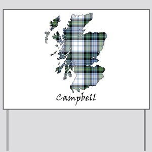 Map-Campbell dress Yard Sign