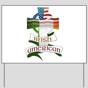 Irish American Celtic Cross Yard Sign