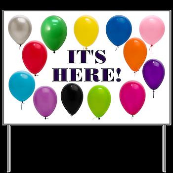 Balloons Birthday Party Yard Sign NEW Favors MEGA CELEBRATIONS