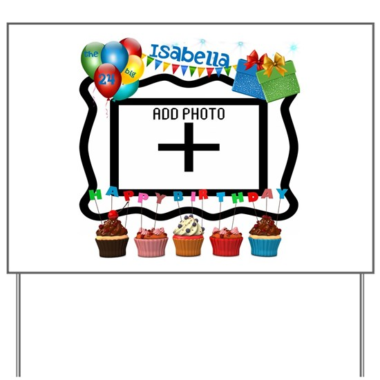 Happy Birthday Personalize Photo, Name, Age