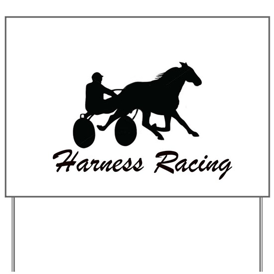 Harness Racing Silhouette Yard Sign by Art by Kirsi
