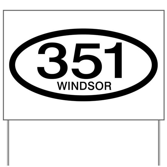 Vintage Ford 351 c.i.d. Windsor Yard Sign by Personalized