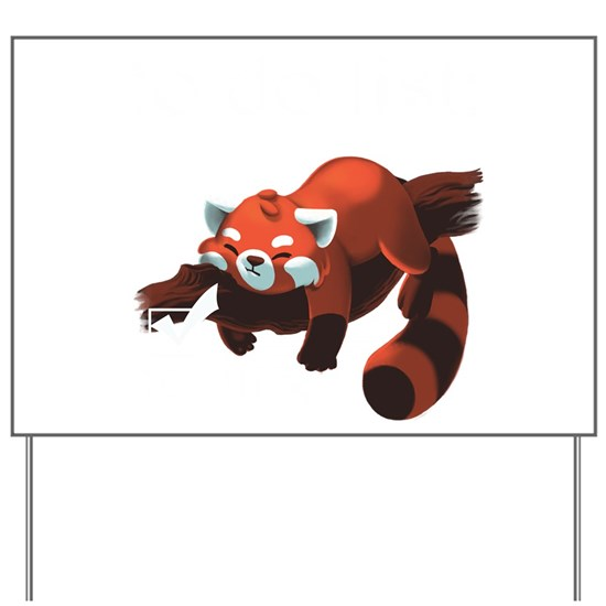 Sleeping Red Panda To Do List design