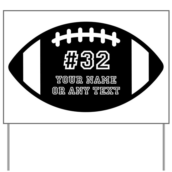 PERSONALIZED FOOTBALL NAME NUMBER TEAM