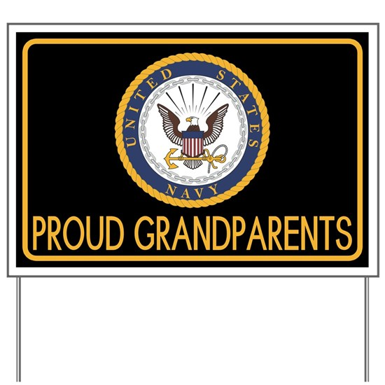 U.S. Navy: Proud Grandparents (Black)